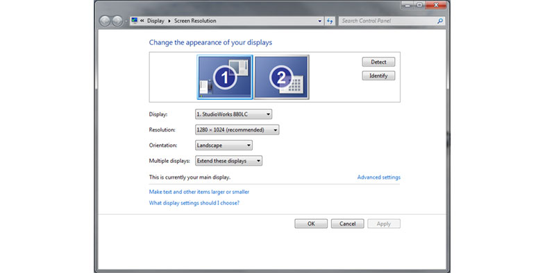 configuración dos monitores