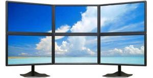matriz de 6 monitores