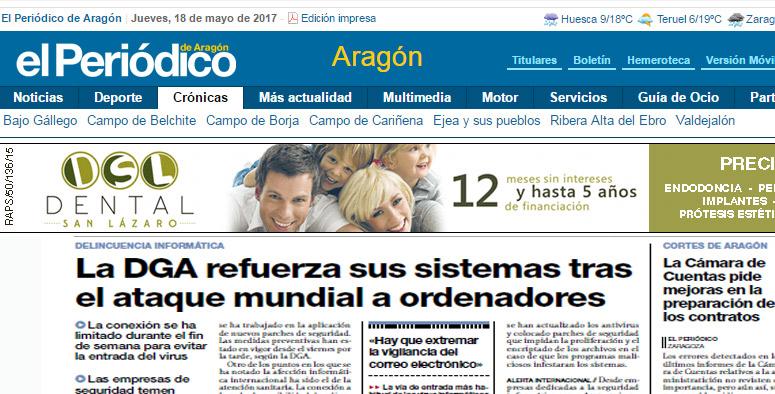 Aratecnia en el Periódico de Aragón