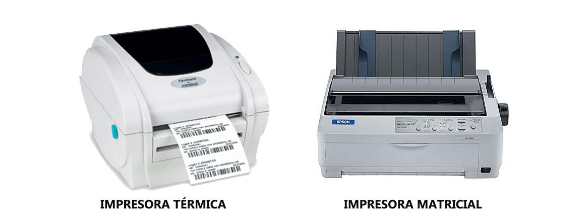 Impresoras térmicas y matriciales