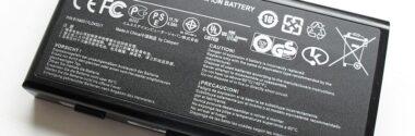 La batería de un ordenador. Concepto y tipos